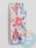 Накладка комбинированная Flowers с силиконовой окантовкой для Apple iPhone 7/8/SE2 вид10
