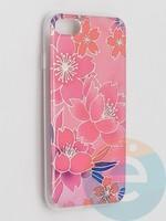 Накладка комбинированная Flowers с силиконовой окантовкой для Apple iPhone 7/8/SE2 вид2