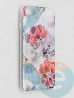 Накладка комбинированная Flowers с силиконовой окантовкой для Apple iPhone 7/8/SE2 вид3