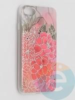 Накладка комбинированная Flowers с силиконовой окантовкой для Apple iPhone 7/8/SE2 вид4