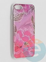 Накладка комбинированная Flowers с силиконовой окантовкой для Apple iPhone 7/8/SE2 вид5