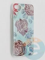 Накладка комбинированная Flowers с силиконовой окантовкой для Apple iPhone 7/8/SE2 вид6