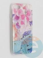 Накладка комбинированная Flowers с силиконовой окантовкой для Apple iPhone 7/8/SE2 вид7