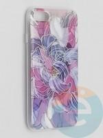 Накладка комбинированная Flowers с силиконовой окантовкой для Apple iPhone 7/8/SE2 вид9