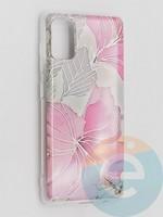 Накладка комбинированная Flowers с силиконовой окантовкой для Samsung Galaxy A41 вид1