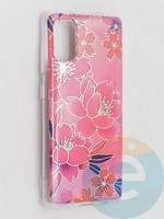 Накладка комбинированная Flowers с силиконовой окантовкой для Samsung Galaxy A41 вид2