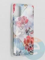 Накладка комбинированная Flowers с силиконовой окантовкой для Samsung Galaxy A41 вид3