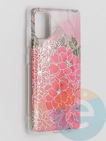 Накладка комбинированная Flowers с силиконовой окантовкой для Samsung Galaxy A41 вид4