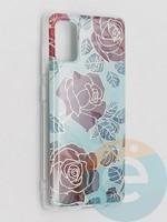 Накладка комбинированная Flowers с силиконовой окантовкой для Samsung Galaxy A41 вид6
