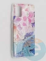 Накладка комбинированная Flowers с силиконовой окантовкой для Samsung Galaxy A41 вид7