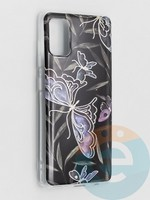 Накладка комбинированная Flowers с силиконовой окантовкой для Samsung Galaxy A41 вид8