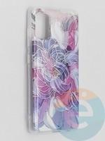 Накладка комбинированная Flowers с силиконовой окантовкой для Samsung Galaxy A41 вид9