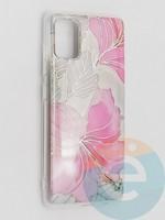 Накладка комбинированная Flowers с силиконовой окантовкой для Samsung Galaxy A51 вид1