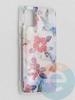 Накладка комбинированная Flowers с силиконовой окантовкой для Samsung Galaxy A51 вид10