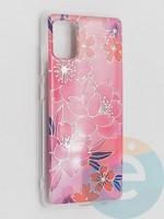 Накладка комбинированная Flowers с силиконовой окантовкой для Samsung Galaxy A51 вид2