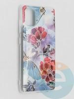 Накладка комбинированная Flowers с силиконовой окантовкой для Samsung Galaxy A51 вид3