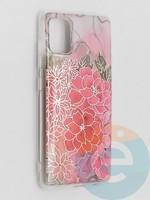 Накладка комбинированная Flowers с силиконовой окантовкой для Samsung Galaxy A51 вид4