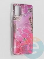 Накладка комбинированная Flowers с силиконовой окантовкой для Samsung Galaxy A51 вид5