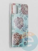 Накладка комбинированная Flowers с силиконовой окантовкой для Samsung Galaxy A51 вид6
