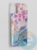 Накладка комбинированная Flowers с силиконовой окантовкой для Samsung Galaxy A51 вид7