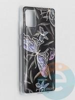 Накладка комбинированная Flowers с силиконовой окантовкой для Samsung Galaxy A51 вид8