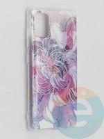 Накладка комбинированная Flowers с силиконовой окантовкой для Samsung Galaxy A51 вид9