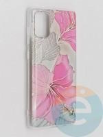 Накладка комбинированная Flowers с силиконовой окантовкой для Samsung Galaxy A71 вид1