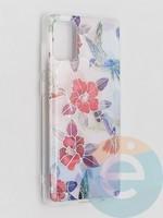 Накладка комбинированная Flowers с силиконовой окантовкой для Samsung Galaxy A71 вид10