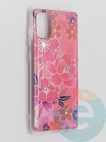 Накладка комбинированная Flowers с силиконовой окантовкой для Samsung Galaxy A71 вид2