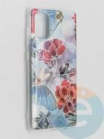 Накладка комбинированная Flowers с силиконовой окантовкой для Samsung Galaxy A71 вид3