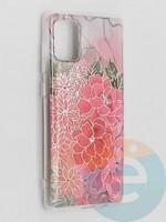 Накладка комбинированная Flowers с силиконовой окантовкой для Samsung Galaxy A71 вид4