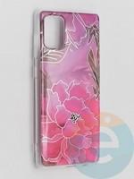 Накладка комбинированная Flowers с силиконовой окантовкой для Samsung Galaxy A71 вид5