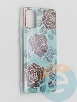 Накладка комбинированная Flowers с силиконовой окантовкой для Samsung Galaxy A71 вид6