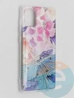 Накладка комбинированная Flowers с силиконовой окантовкой для Samsung Galaxy A71 вид7
