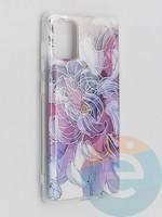 Накладка комбинированная Flowers с силиконовой окантовкой для Samsung Galaxy A71 вид9