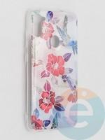 Накладка комбинированная Flowers с силиконовой окантовкой для Samsung Galaxy M11 вид10