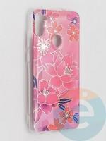 Накладка комбинированная Flowers с силиконовой окантовкой для Samsung Galaxy M11 вид2