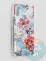 Накладка комбинированная Flowers с силиконовой окантовкой для Samsung Galaxy M11 вид3