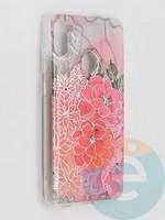 Накладка комбинированная Flowers с силиконовой окантовкой для Samsung Galaxy M11 вид4
