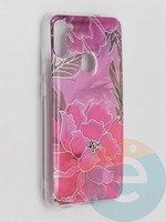 Накладка комбинированная Flowers с силиконовой окантовкой для Samsung Galaxy M11 вид5