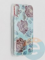 Накладка комбинированная Flowers с силиконовой окантовкой для Samsung Galaxy M11 вид6