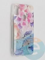 Накладка комбинированная Flowers с силиконовой окантовкой для Samsung Galaxy M11 вид7