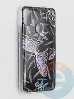 Накладка комбинированная Flowers с силиконовой окантовкой для Samsung Galaxy M11 вид8