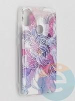 Накладка комбинированная Flowers с силиконовой окантовкой для Samsung Galaxy M11 вид9