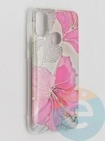 Накладка комбинированная Flowers с силиконовой окантовкой для Samsung Galaxy M21 вид1