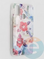 Накладка комбинированная Flowers с силиконовой окантовкой для Samsung Galaxy M21 вид10