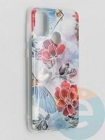 Накладка комбинированная Flowers с силиконовой окантовкой для Samsung Galaxy M21 вид3