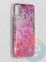 Накладка комбинированная Flowers с силиконовой окантовкой для Samsung Galaxy M21 вид5