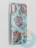 Накладка комбинированная Flowers с силиконовой окантовкой для Samsung Galaxy M21 вид6