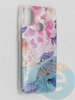 Накладка комбинированная Flowers с силиконовой окантовкой для Samsung Galaxy M21 вид7